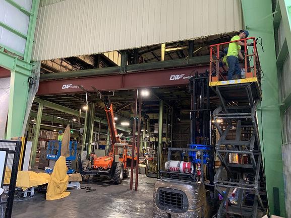 9-10-19 Industrieal Steel beam install p