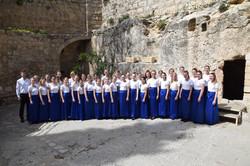 Hele koret i Gravhaven efter koncerten