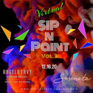 Serenata x Angels Envy Virtual Sip and Paint