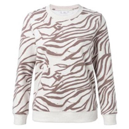 SWEATSHIRT zebraprint beige