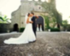 Les mariés à l'église