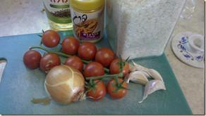 תבשיל אורז ועגבניות שרי