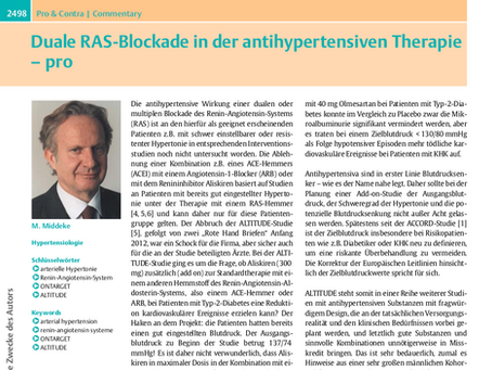 Duale RAS-Blockade in der antihypertensiven Therapie