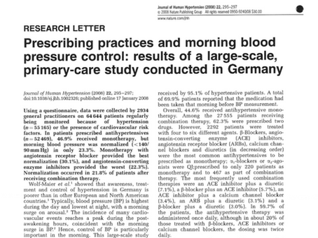 Prescribing practices and morning blood pressure control
