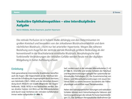 Vaskuläre Ophthalmopathien – eine interdisziplinäre Aufgabe