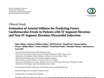 6. Evaluation of arterial stiffness for predicting future cardiovascular events