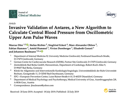 40. Invasive Validation of Antares, a New Algorithm to Calculate Central Blood Pressure