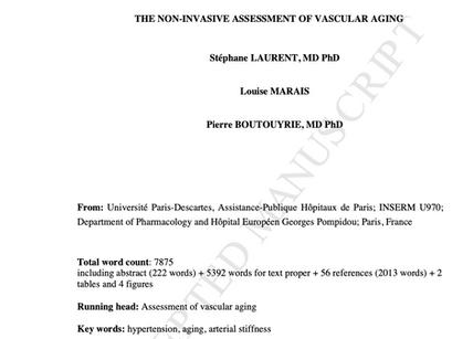 1. The Noninvasive Assessment of Vascular Aging