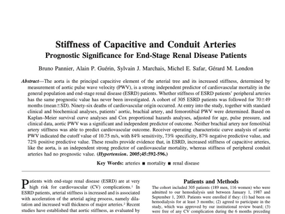 16. Stiffness of Capacitive and Conduit Arteries Prognostic Significance for End-