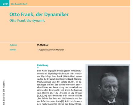 Otto Frank, der Dynamiker