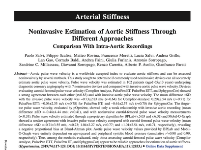 10. Noninvasive Estimation of Aortic Stiffness Through Different Approaches.