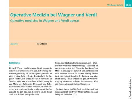Operative Medizin bei Wagner und Verdi
