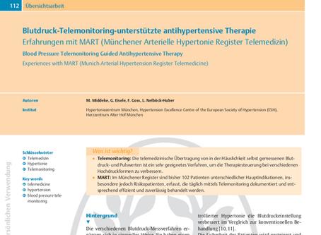 Blutdruck-Telemonitoring-unterstützte antihypertensive Therapie: Erfahrungen mit MART