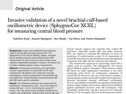 37. Invasive validation of a novel brachial cuff-based oscillometric device (SphygmoCor XCEL)