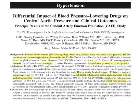 Differential impact of blood pressure-lowering drugs