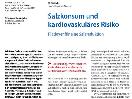 Salzkonsum und kardiovaskuläres Risiko