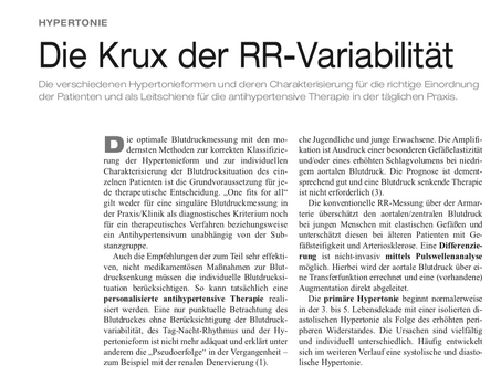Die Krux der RR-Variabilität