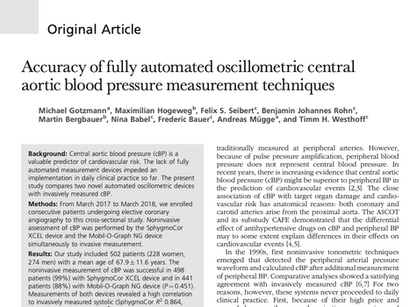 35. Accuracy of fully automated oscillometric central aortic blood pressure measurement techniques.