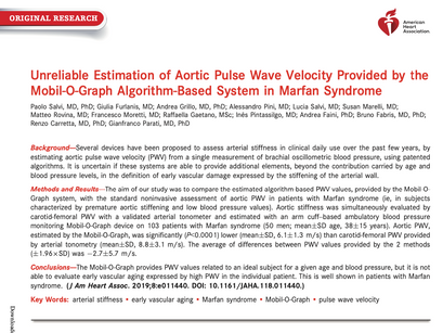 19. Unreliable Estimation of Aortic Pulse Wave Velocity Provided by the Mobil-O-Graph
