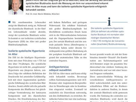 Isolierte systolische Hypertonie: Wann wird sie zum Risiko?