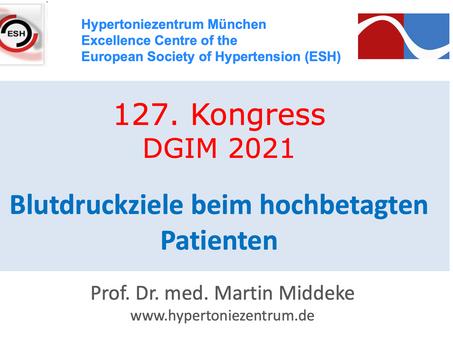 127. Kongress DGIM 2021: Blutdruckziele bei hochbetagten Patienten