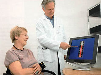 Blutdruck-Biofeedback mit Prof. Middeke.