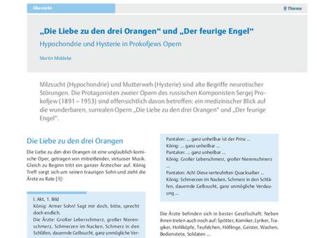 Hypochondrie und Hysterie in Prokofjews Opern