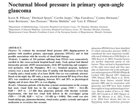 Nocturnal blood pressure in primary open-angle glaucoma