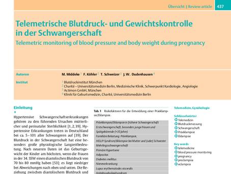 Telemetrische Blutdruck- und Gewichtskontrolle in der Schwangerschaft
