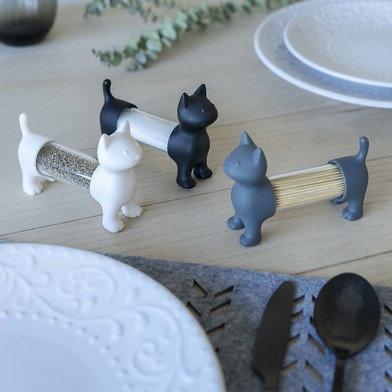 Tandenstoker houder / peper of zoutvaatje kat