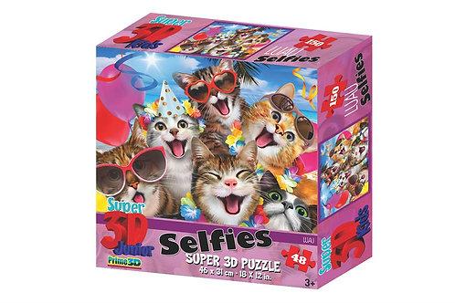 3D Puzzel Selfies Kat 48st.
