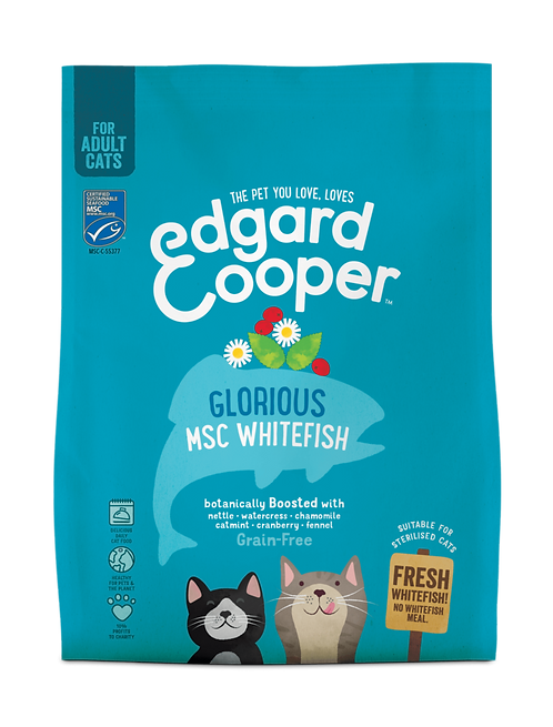Edgard & Cooper Droogvoer ADULT verse MSC-witvis 300 gram