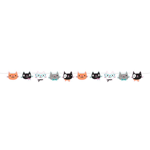 Purrfect Party Banner KAT 1.7 meter