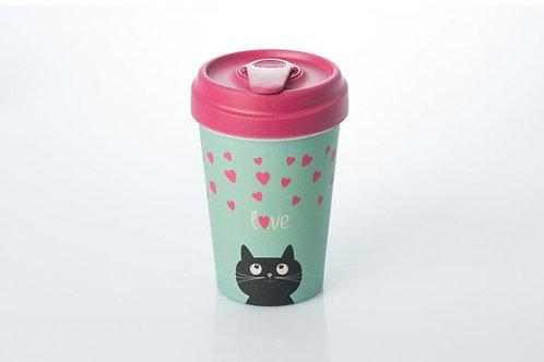 BambooCUP Kitty Love 400ml