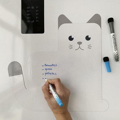 Magnetisch notitiebord Kat incl markers