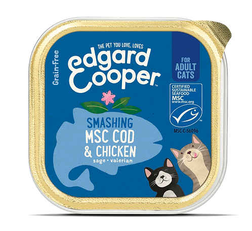 Edgard & Cooper Natvoer ADULT MSC-kabeljauw & kip