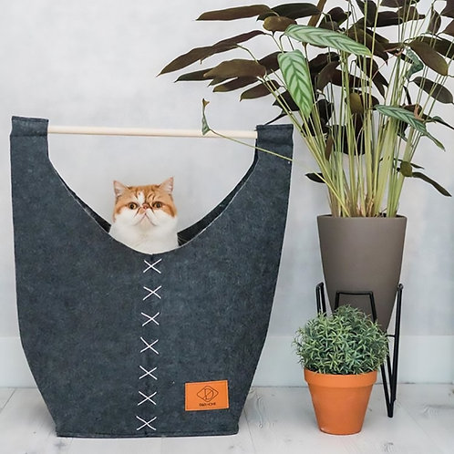 Kattenmand Lounge Vilt Grijs