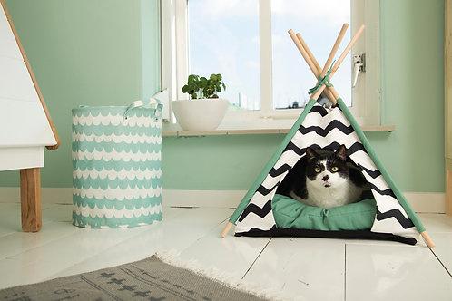 Tipi Tent zwart/wit