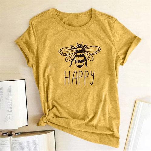 Bee Happy Planet Shirt