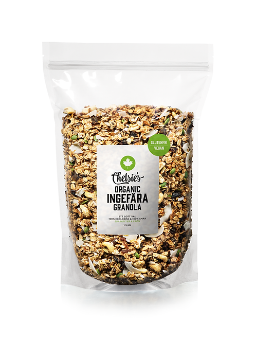Chelsie's Organic Ingefära Granola, 1.5kg