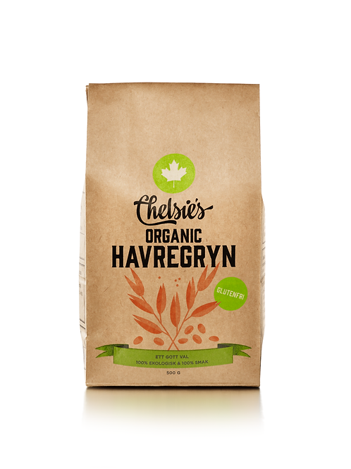 Chelsie's Organic Havregryn, 500g