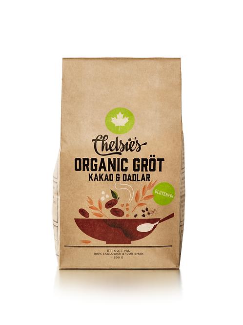 Chelsie's Organic Gröt - Kakao & Dadlar, 500g