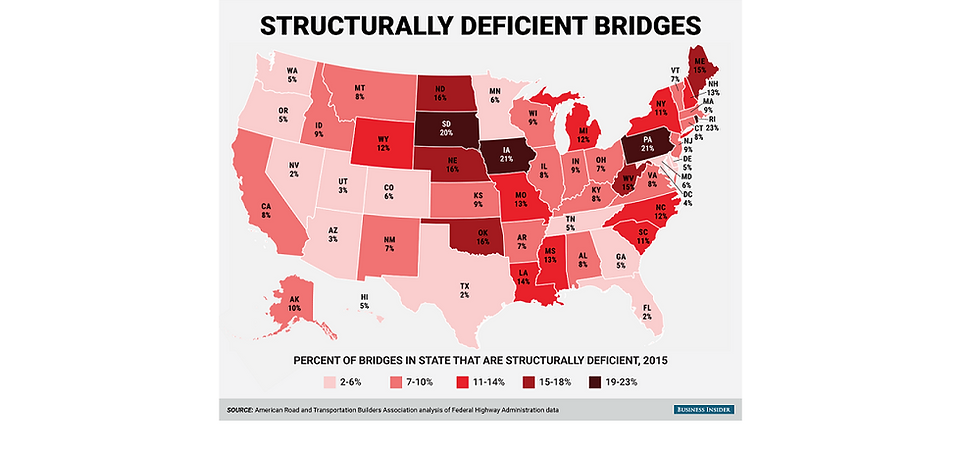 deficient bridges USA