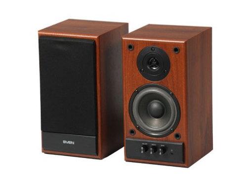 Акустическая система 2.0 SVEN SPS-702 (walnut) 2x20 Вт, деревянный корпус