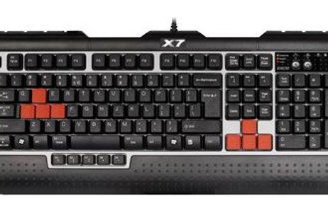 Клавиатура A4Tech X7-G800V, USB 7«горячих» клавиш + 15геймерских клавиш