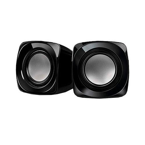 Акустическая система 2.0 REAL-EL S-20, 2*3W speaker, mini-jack 3,5/USB