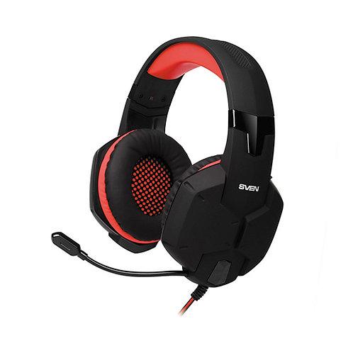 Наушники игровые SVEN AP-G988MV black-red наушники с микрофоном (кожаные) Джек 3