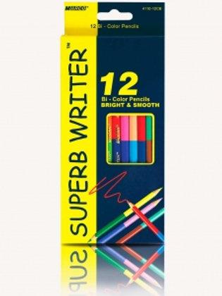 Карандаши цветные 12шт 24цв двухсторонние MARCO