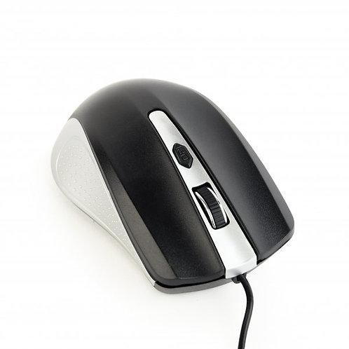 Мышь Gembird MUS-4B-01-SB, USB интерфейс, серо-черный цвет