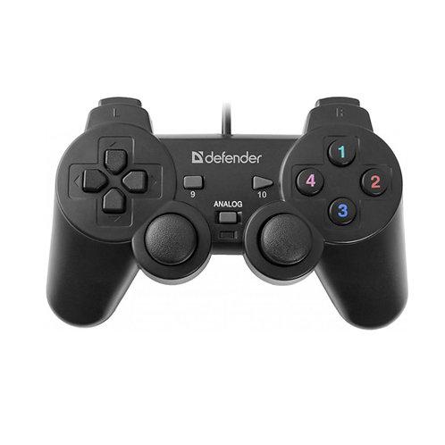 Геймпад Defender Omega USB, 12 кнопок, 2 мини-джойстика, Переключатель видов (D-